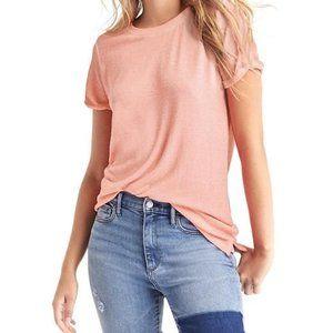 GAP | Pink Softspun Rollsleeve Knit Tee